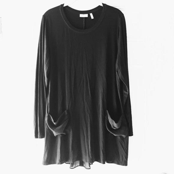 LOGO Lori Goldstein Soft Tunic Blouse Lagenlook L